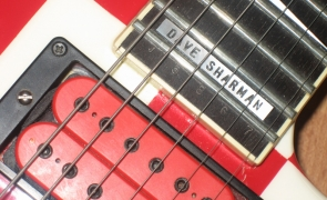 Dave Sharman's red checkerboard Jackson Soloist Custom